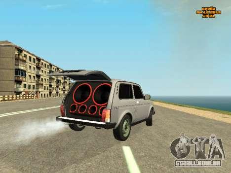 VAZ 2123 Niva auto Som para GTA San Andreas traseira esquerda vista