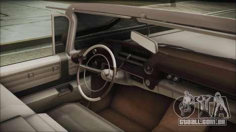 Cadillac Eldorado Biarritz 1959 para GTA San Andreas vista direita