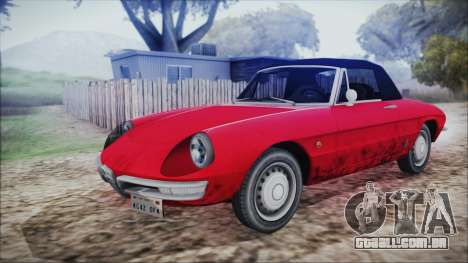 Alfa Romeo Spider Duetto 1966 para GTA San Andreas vista traseira