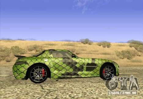 Mercedes-Benz SLS AMG Snake para GTA San Andreas esquerda vista