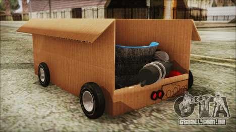 Kart-Box para GTA San Andreas esquerda vista