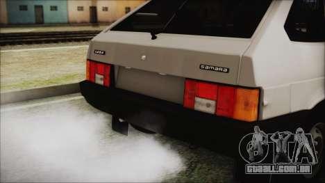 2109 Escoamento para GTA San Andreas vista traseira