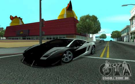 Lamborghini Gallardo Tunable para vista lateral GTA San Andreas