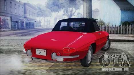 Alfa Romeo Spider Duetto 1966 para GTA San Andreas esquerda vista