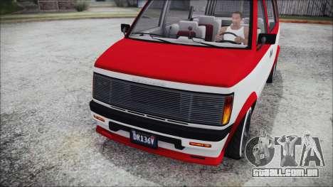 GTA 5 Declasse Moonbeam Bobble Version IVF para GTA San Andreas vista direita