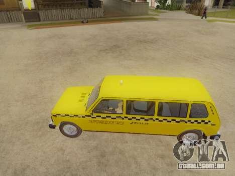 VAZ 2131 7-Porta de Táxi para GTA San Andreas traseira esquerda vista