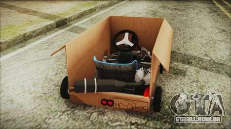 Kart-Box para GTA San Andreas traseira esquerda vista