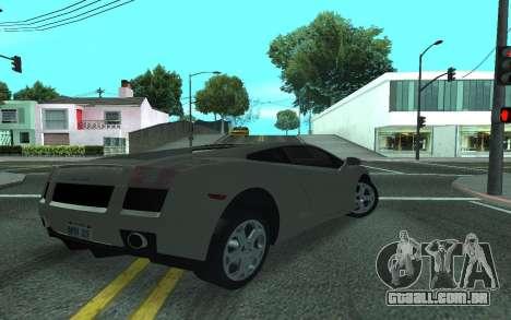 Lamborghini Gallardo Tunable para GTA San Andreas esquerda vista