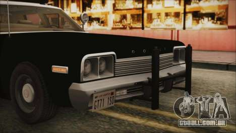 Dodge Monaco 1974 LSPD IVF para vista lateral GTA San Andreas