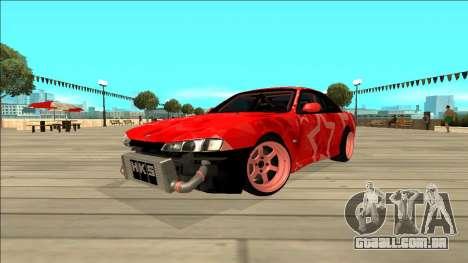 Nissan Silvia S14 Drift Red Star para GTA San Andreas vista traseira