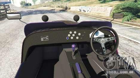 GTA 5 Caterham R500 2008 v0.5 traseira direita vista lateral