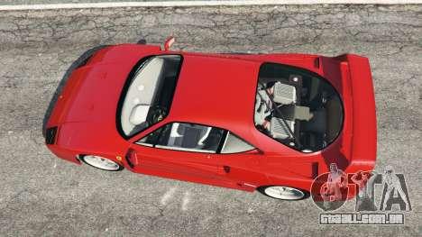 GTA 5 Ferrari F40 1987 voltar vista