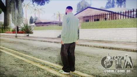 GTA 5 Grove Gang Member 1 para GTA San Andreas terceira tela