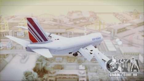 Boeing 747-128B Air France para GTA San Andreas esquerda vista