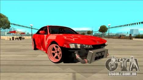 Nissan Silvia S14 Drift Red Star para GTA San Andreas vista interior