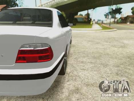 BMW 750i para GTA San Andreas vista superior