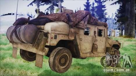 Humvee from Spec Ops The Line para GTA San Andreas esquerda vista