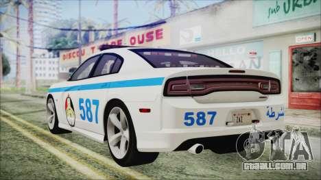 Dodge Charger SRT8 2012 Iraqi Police para GTA San Andreas esquerda vista