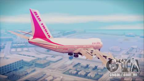 Boeing 747-237Bs Air India Himalaya para GTA San Andreas esquerda vista