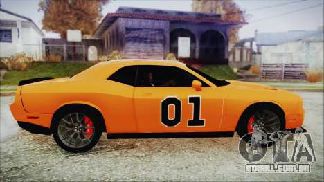Dodge Challenger SRT 2015 Hellcat General Lee para GTA San Andreas traseira esquerda vista