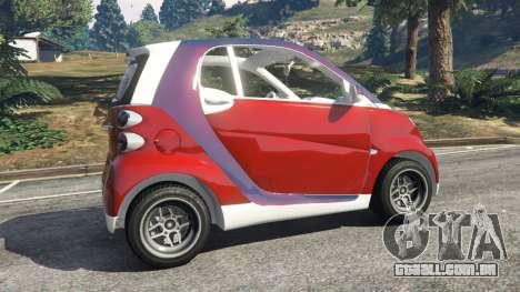 GTA 5 Smart ForTwo 2012 v0.1 traseira direita vista lateral