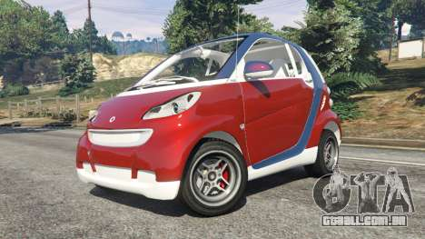 GTA 5 Smart ForTwo 2012 v0.1 vista lateral direita
