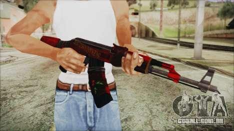 Xmas AK-47 para GTA San Andreas terceira tela