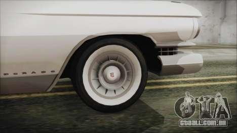 Cadillac Eldorado Biarritz 1959 para GTA San Andreas traseira esquerda vista