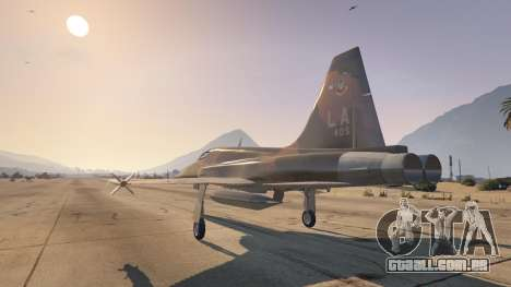 GTA 5 Northrop F-5E Tiger II USA terceiro screenshot