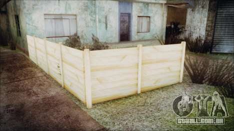 Wooden Fences HQ 1.2 para GTA San Andreas por diante tela