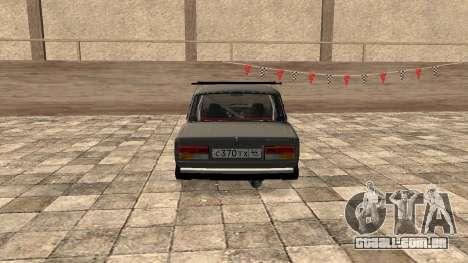 VAZ 2107 JDM para GTA San Andreas traseira esquerda vista