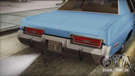 Dodge Monaco 1974 Civilian para GTA San Andreas vista direita