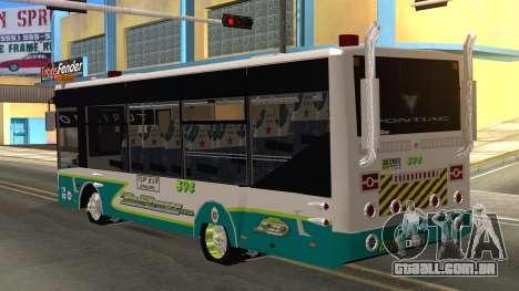 Lazcity Midibus Stylo Colombia para GTA San Andreas esquerda vista