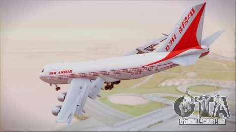 Boeing 747-237Bs Air India Krishna Deva Raya para GTA San Andreas esquerda vista