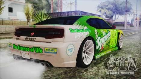 GTA 5 Bravado Buffalo Sprunk para GTA San Andreas esquerda vista