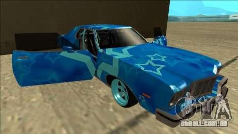 Ford Gran Torino Drift Blue Star para GTA San Andreas vista inferior