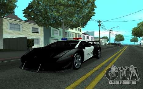 Lamborghini Gallardo Tunable para GTA San Andreas traseira esquerda vista