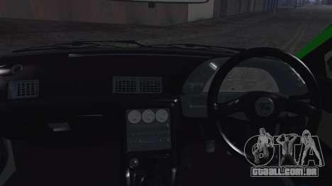 Nissan Skyline R32 Rocket Bunny para GTA San Andreas vista interior