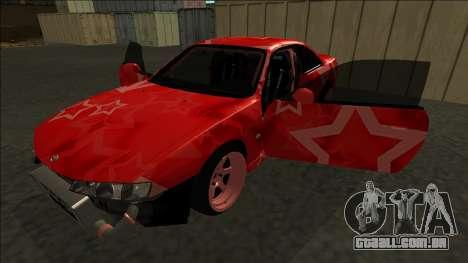 Nissan Silvia S14 Drift Red Star para o motor de GTA San Andreas