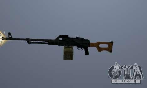 A Metralhadora Kalashnikov para GTA San Andreas segunda tela