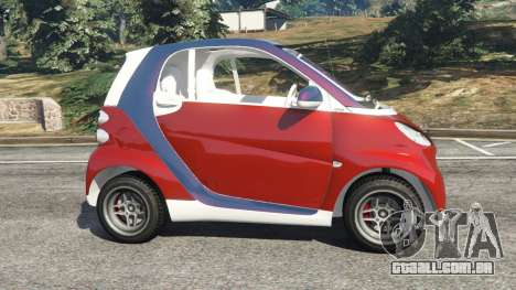 GTA 5 Smart ForTwo 2012 v0.1 vista lateral esquerda