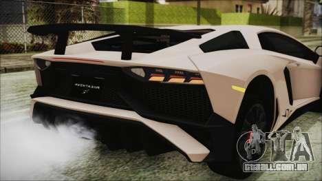 Lamborghini Aventador SV 2015 para GTA San Andreas vista superior