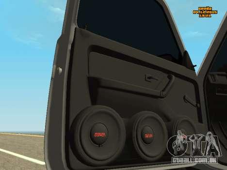 VAZ 2123 Niva auto Som para GTA San Andreas vista traseira