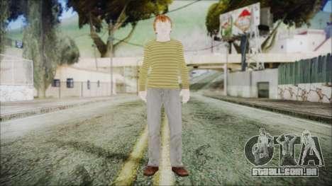 Ron Weasley para GTA San Andreas segunda tela