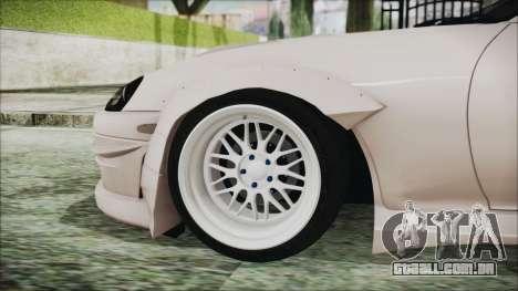 Toyota Supra JZA80 RocketBunny para GTA San Andreas traseira esquerda vista