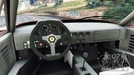 GTA 5 Ferrari F40 1987 traseira direita vista lateral