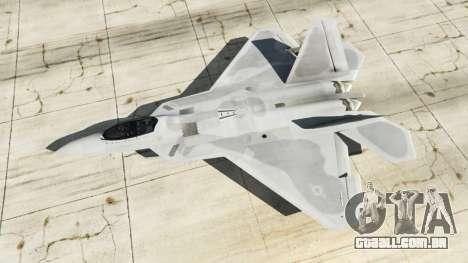 GTA 5 Lockheed Martin F-22 Raptor quarto screenshot