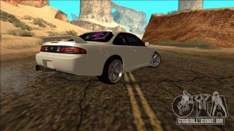 Nissan Silvia S14 Drift para GTA San Andreas vista direita