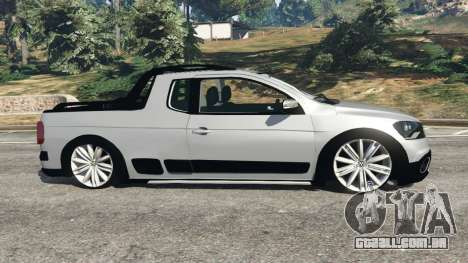 GTA 5 Volkswagen Saveiro G6 Cross vista lateral esquerda
