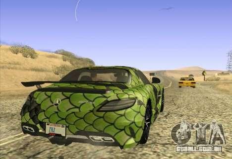 Mercedes-Benz SLS AMG Snake para GTA San Andreas traseira esquerda vista